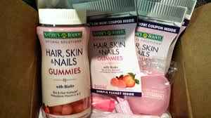 nature u0027s bounty hair skin u0026 nails gummies with biotin review