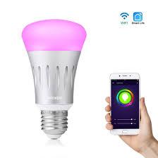 alexa light bulbs no hub cairondin smart wifi light bulb 7w e27 wifi smart led bulb