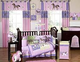 Girls Horse Bedding Set by Amazon Com Pretty Pony Horse Western Baby Bedding 9pc Crib