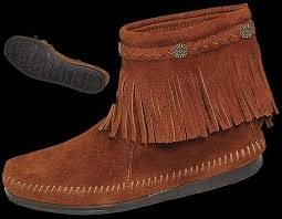 womens moccasin boots size 11 s hi top back zip boot from minnetonka moccasin