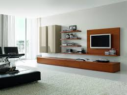 alluring modern entertainment unit presenting compact wooden wall