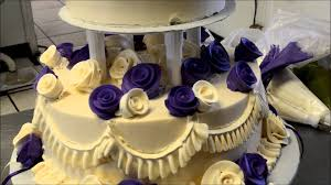 design a cake how to design a two tier wedding cake with open pillars