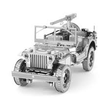 vintage willys jeep fascinations metal earth 3d metal model diy kits unique gifts