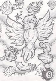 new school tattoo drawings black and white new school bird flash by inkie girl on deviantart