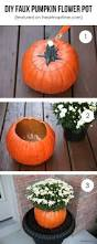 diy faux pumpkin flower centerpiece pinterest challenge