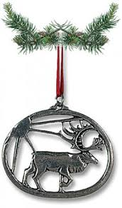 pewter reindeer ornament pewter tree ornaments