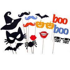 halloween party fun 14pcs diy photo booth props mustache on a stick wedding birthday