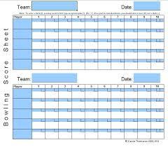 Ten Pin Bowling Sheet Template 9 Free Sle Bowling Sheet Templates Printable Sles