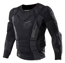 blank motocross jersey troy lee designs 7855 long sleeve upper body armor from