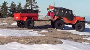 jeep trailer build modified m 416 military trailer with cvt rtt youtube