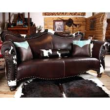 rustic sofas and loveseats rustic leather loveseat country western room cowboy coffee leather