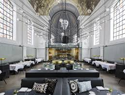 Church Converted To House by Former Chapel Transformed Into The Jane Restaurant In Antwerp
