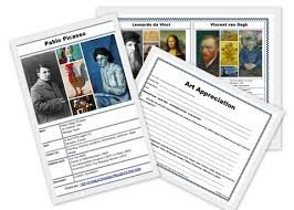 famous artists free printable puzzle and art appreciation worksheet