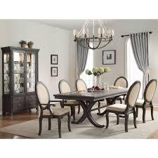 Dining Room Set 7 Piece Lindley 7 Piece Walnut Veneers Extendable Dining Room Set