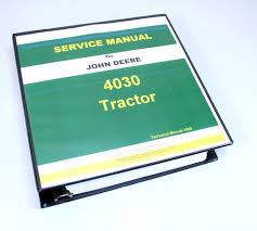 john deere 4030 tractor service repair manual technical shop book