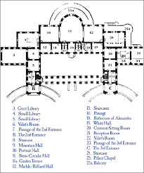 Caesars Palace Floor Plan The Ground Plan Of The Catherine Palace Notice The Enfilade As