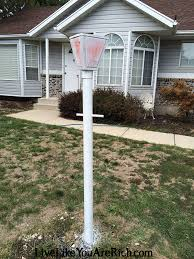 how to paint a lamp post live like you are rich