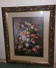 home interiors picture frames rare vintage syroco homco wall shelf black gold 21 homco
