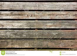 wood slat old wood slat sidewalk boardwalk in antique town stock photo