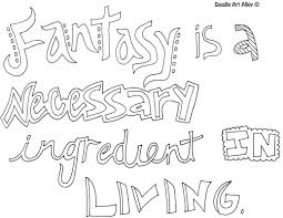 inspirational quote coloring pages doodle art alley
