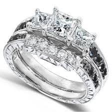 black gold wedding sets kobelli online jewelry black diamond bridal sets