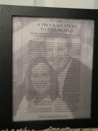 framed family proclamation vellum family proclamation craft ideas family