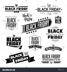black friday calligraphic designs vector set stock vector