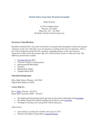 Sample Resume For Retail Sales by Sample Resume For Sales Associate Free Resume Example And