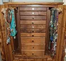 Jewelry Chest Armoire This Gorgeous Necklace Jewelry Box Stores Dozens Of Necklaces