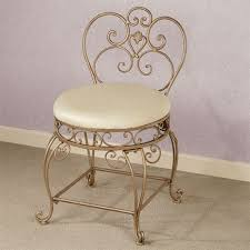 vanity chair with skirt aldabella satin gold upholstered vanity chair throughout prepare 12