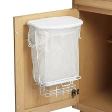 top elegant door mounted kitchen garbage can with lid for home