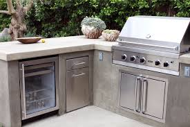 built in bbq smooth stucco face and a colored concrete countertop