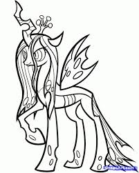 coloring pages free coloring pages of my little pony queen my