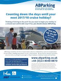 Southampton Port Car Parking Into The Blue July August 2017 Edition 20 Bolsover Cruise Club