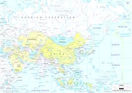Blank Map Of Asia by Asia Asian Continent Outline Map With Map Of The Asian Continent