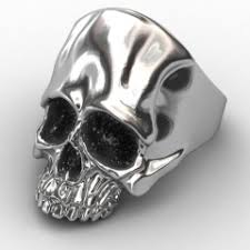 stainless steel rings for men evbea skull rock rings wholesale fashion big plated men ring 316