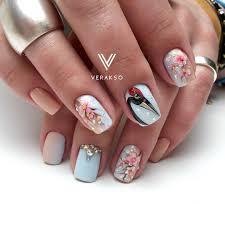 вераксо зверюшки маникюр pinterest manicure bird nail art