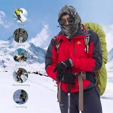 amazon com balaclava ski face mask thick fleece hoodie mask neck