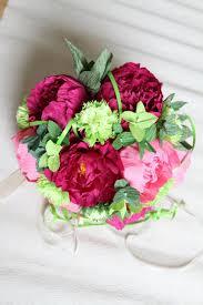 Peonies Bouquet 1 Peonies Bouquet Wedding Peonies Roses Bridal Bouquet Crepe