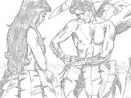 coloring pages adam and eve adam and eve coloring pages