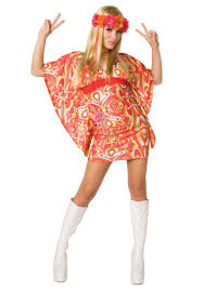 flower power hippie costume 60s costumes women