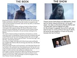 10 big differences between u0027game of thrones u0027 and u0027a song of ice