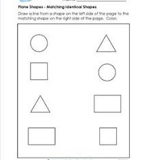 plane shapes worksheets kindergarten shapes