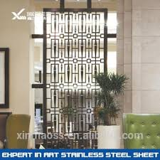 Gold Room Divider Laser Cutting Morden Custom Stainless Steel Malaysia Room Divider