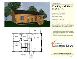 Crystal House Floor Plans The Crystal River 49 502 00 The Original Lincoln Logs