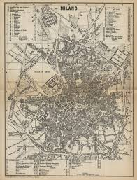 Milan Italy Map Baedekers Milan Italy Map 1881 Maps Pinterest Mailand