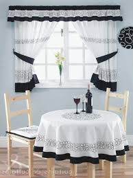 Red And White Curtains For Kitchen by Kitchen Red And Black Curtains Curtians Valances Eiforces Within