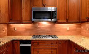 kitchen copper backsplash copper color large subway backsplash backsplash