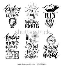 travel phrases images Vector set hand lettering phrases about stock photo photo vector jpg