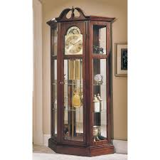 Images Of Curio Cabinets Howard Miller Majestic Curio Grandfather Clock Hayneedle